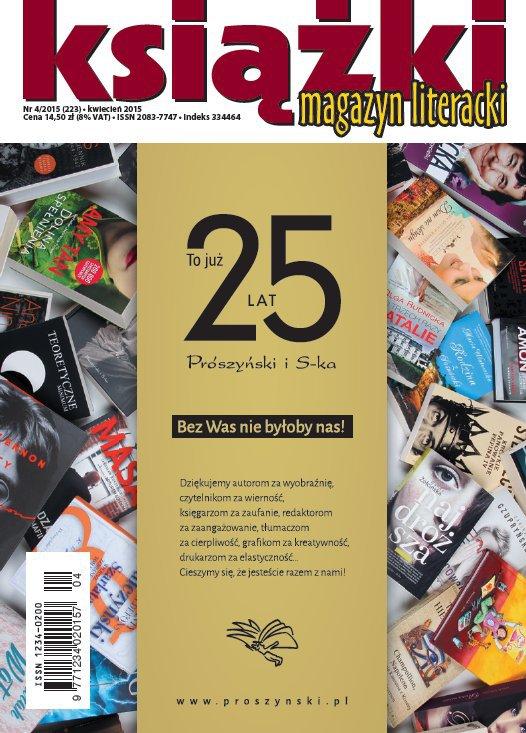 Magazyn Literacki KSIĄŻKI 4/2015 - Ebook (Książka PDF) do pobrania w formacie PDF