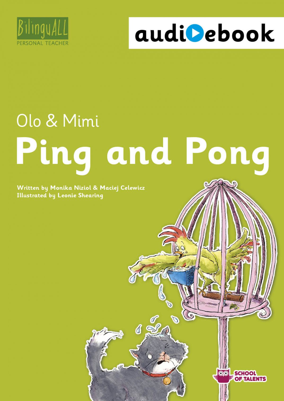Ping and Pong. Ebook + audiobook. Nauka angielskiego dla dzieci 2-7 lat - Ebook (Książka na Kindle) do pobrania w formacie MOBI
