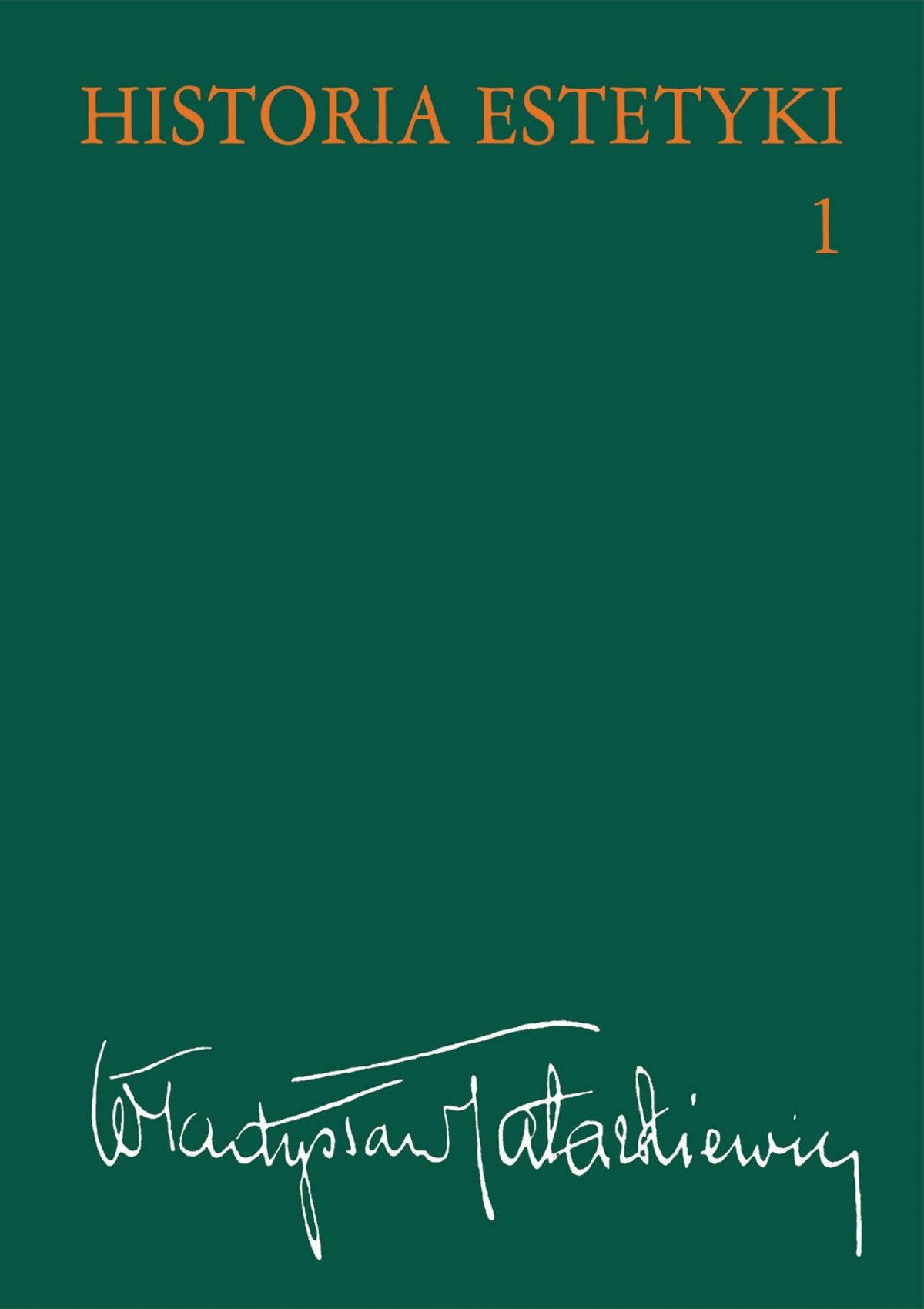 Historia estetyki. Tom 1 - Ebook (Książka EPUB) do pobrania w formacie EPUB