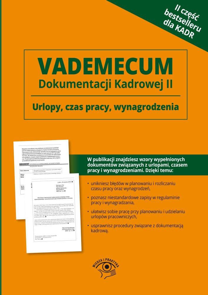 Vademecum dokumentacji kadrowej. Część II - Ebook (Książka PDF) do pobrania w formacie PDF