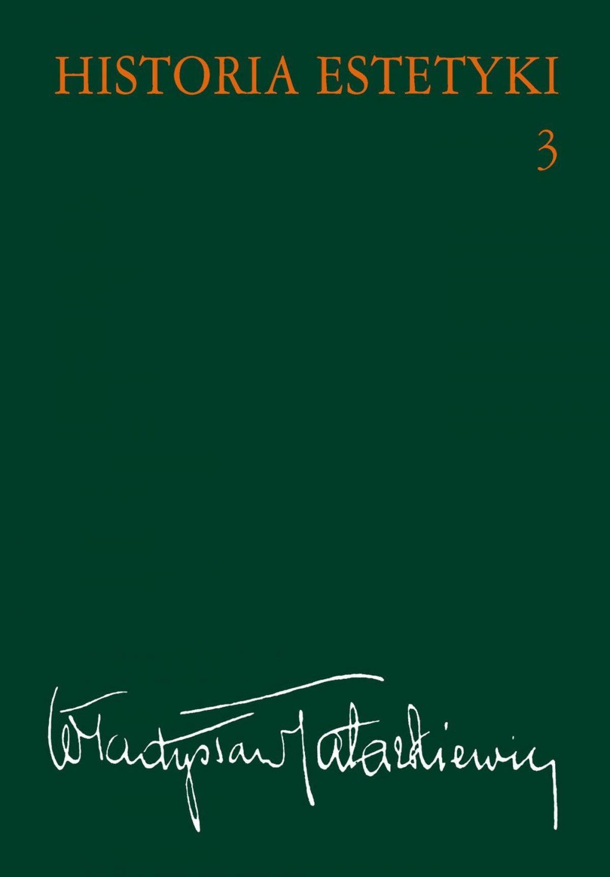 Historia estetyki. Tom 3 - Ebook (Książka na Kindle) do pobrania w formacie MOBI