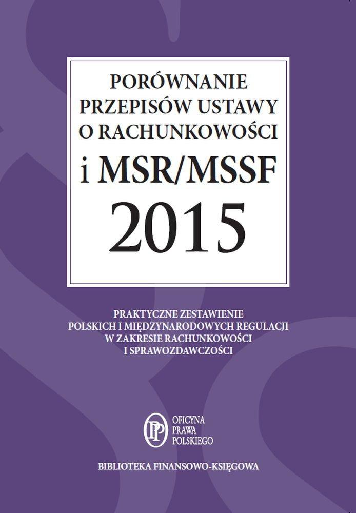 Porównanie przepisów ustawy o rachunkowości i MSR/MSSF 2015 - Ebook (Książka PDF) do pobrania w formacie PDF