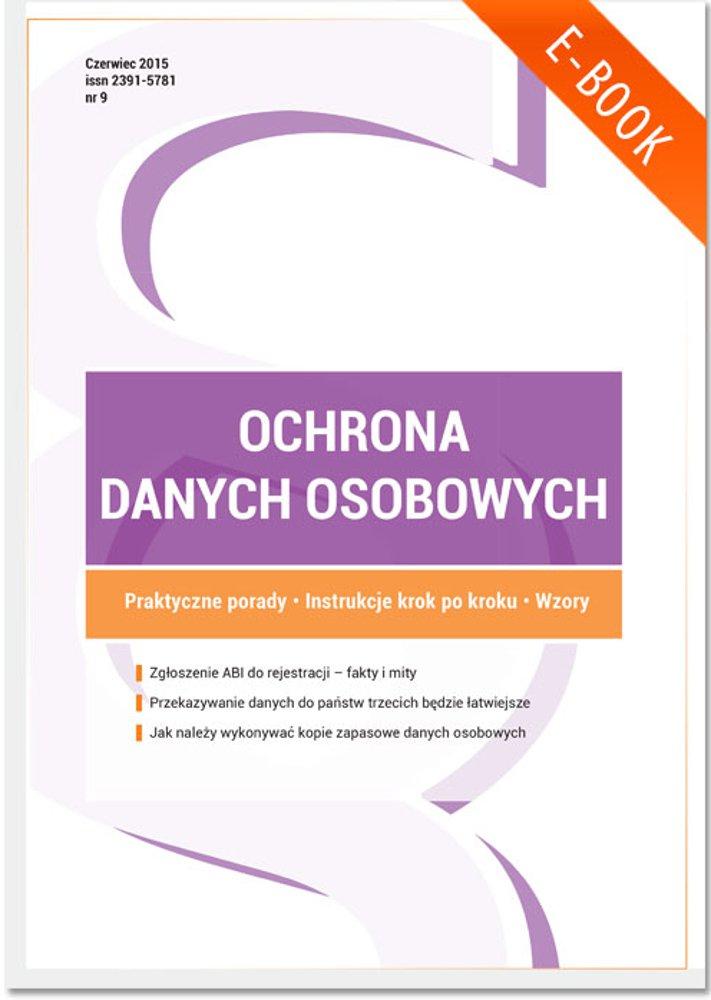 Ochrona danych osobowych - wydanie czerwiec 2015 r. - Ebook (Książka PDF) do pobrania w formacie PDF