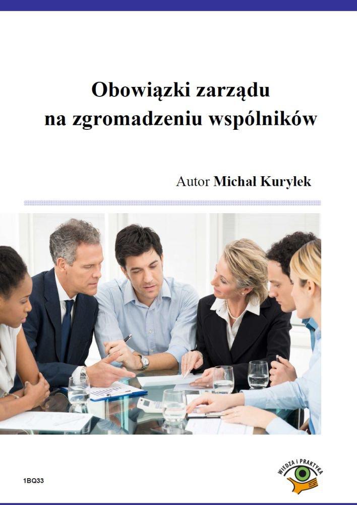 Obowiązki zarządu na zgromadzeniu wspólników - Ebook (Książka PDF) do pobrania w formacie PDF