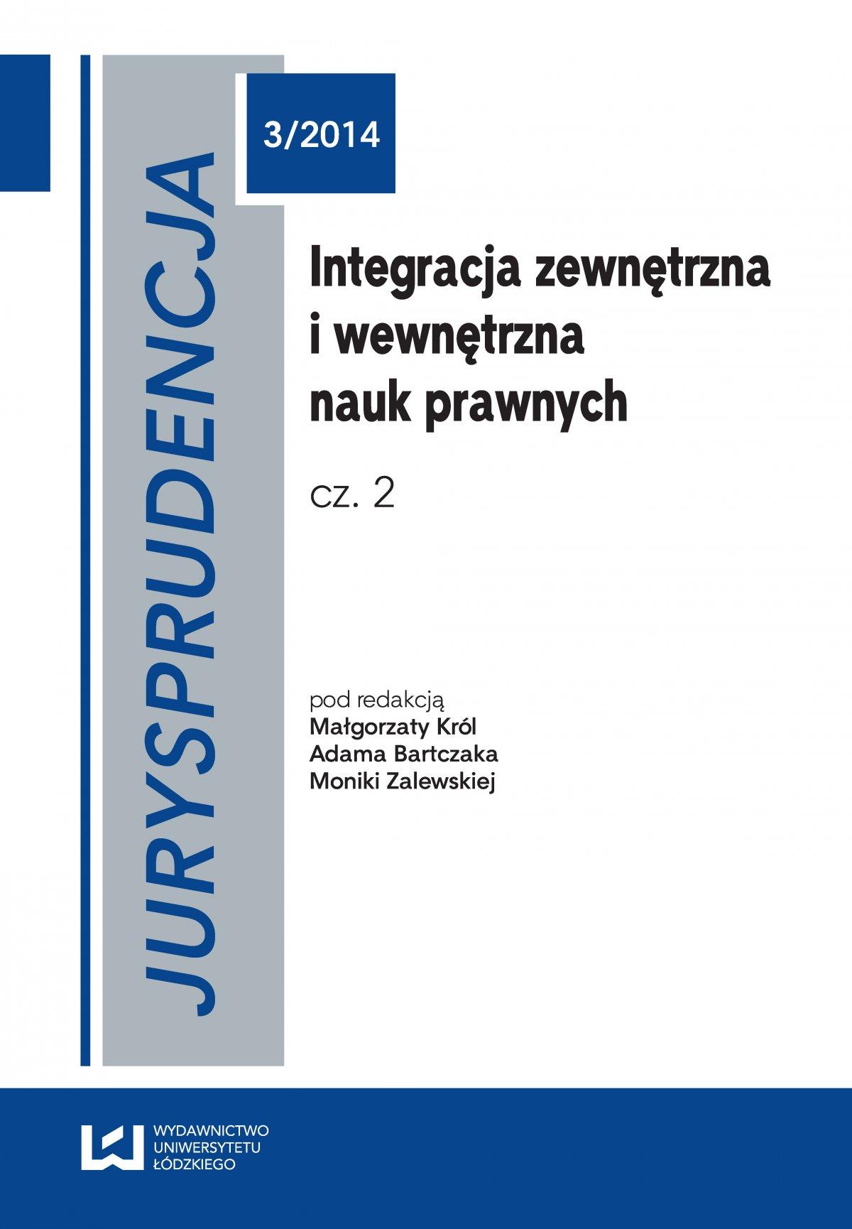 Jurysprudencja 3. Integracja zewnętrzna i wewnętrzna nauk prawnych. Część 2 - Ebook (Książka PDF) do pobrania w formacie PDF