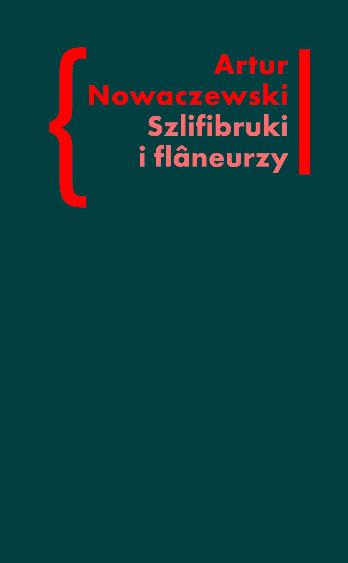 Szlifibruki i flâneurzy. Figura ulicy w literaturze polskiej po 1918 roku - Ebook (Książka EPUB) do pobrania w formacie EPUB