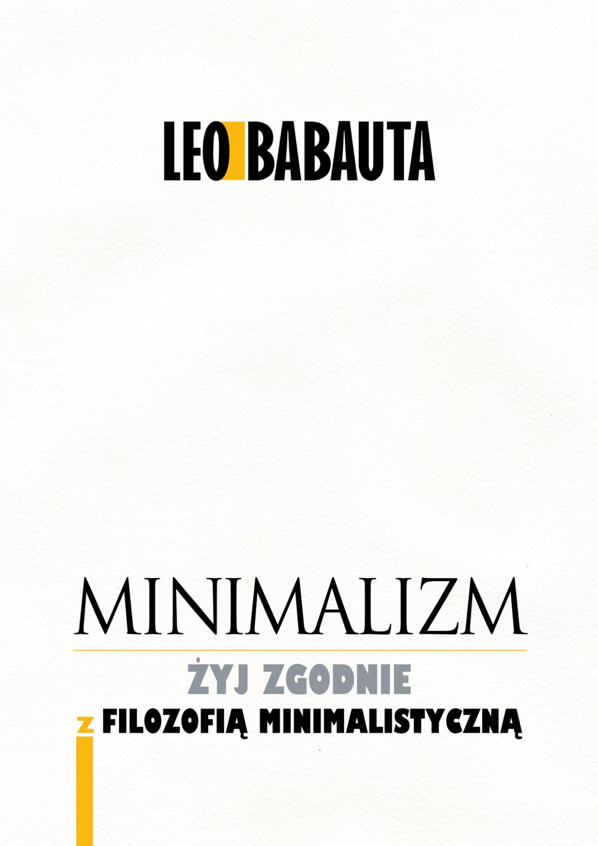 Minimalizm - Ebook (Książka PDF) do pobrania w formacie PDF
