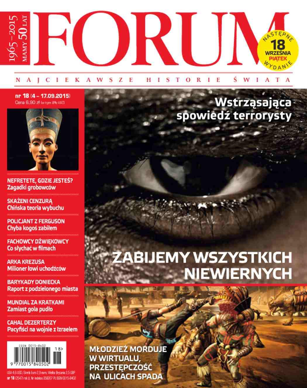Forum nr 18/2015 - Ebook (Książka PDF) do pobrania w formacie PDF