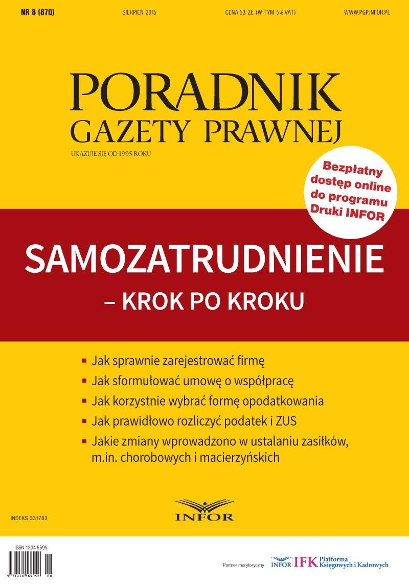 Poradnik Gazety Prawnej nr 8/15. Samozatrudnienie - Ebook (Książka PDF) do pobrania w formacie PDF