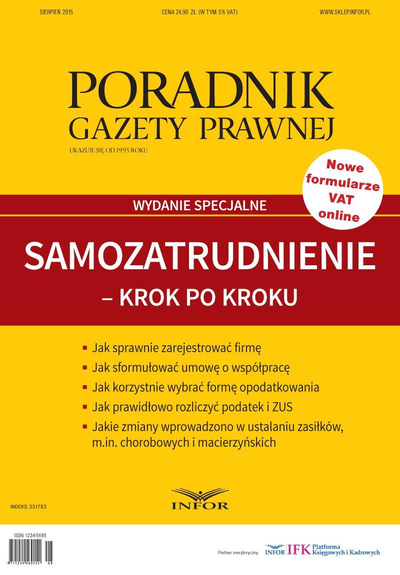 Poradnik Gazety Prawnej Nr 8/15. Wydanie Specjalne - Ebook (Książka PDF) do pobrania w formacie PDF