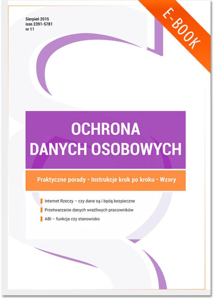 Ochrona danych osobowych - wydanie sierpień 2015 r. - Ebook (Książka PDF) do pobrania w formacie PDF