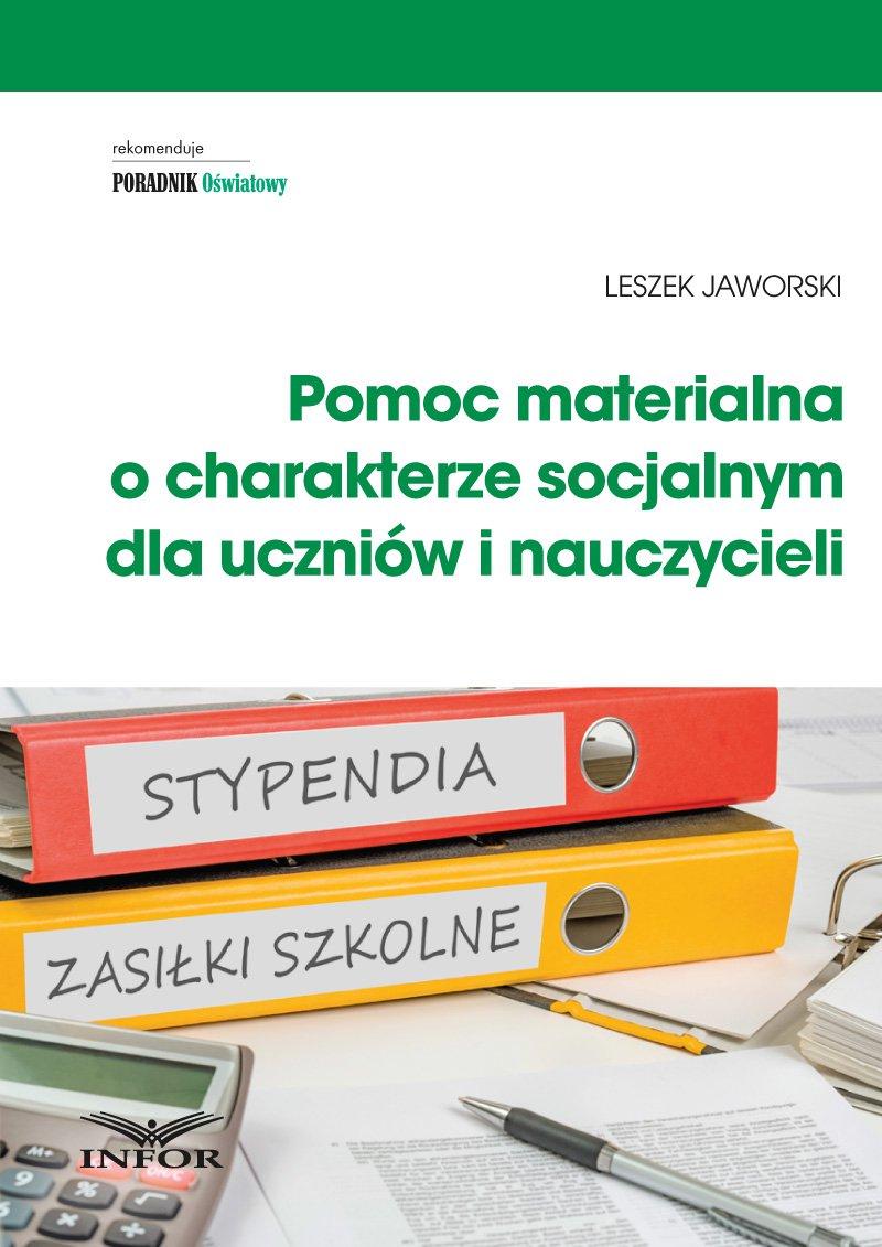Pomoc materialna o charakterze socjalnym  dla uczniów i nauczycieli - Ebook (Książka PDF) do pobrania w formacie PDF