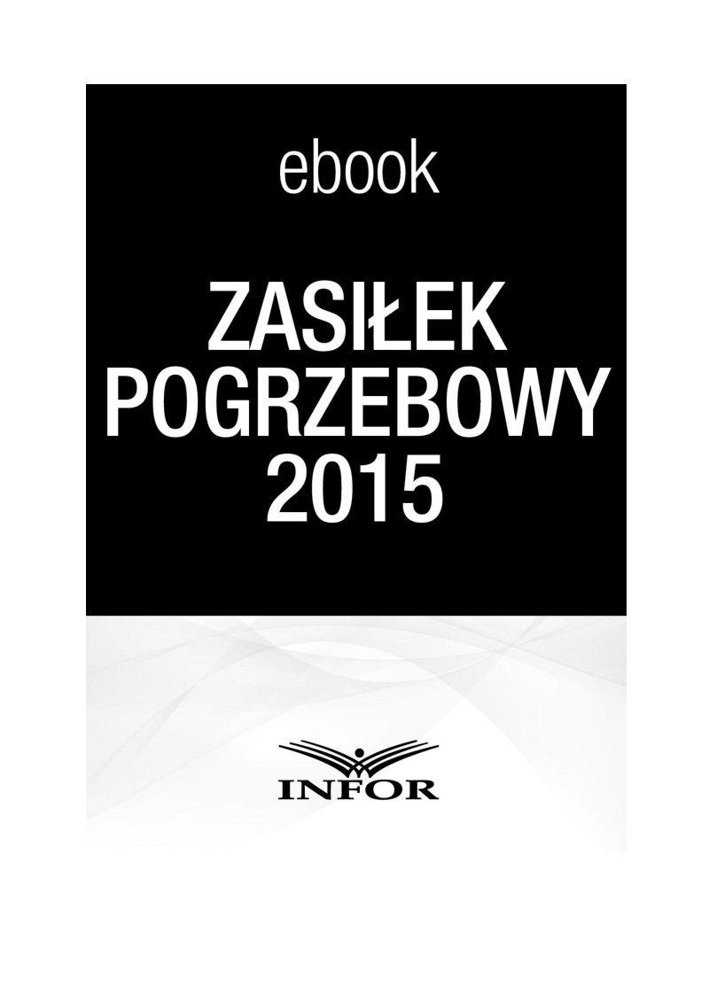Zasiłek pogrzebowy 2015 - Ebook (Książka PDF) do pobrania w formacie PDF