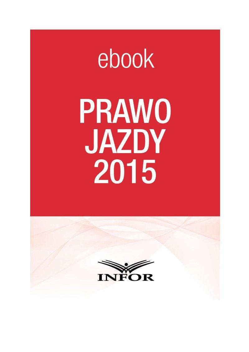 Prawo Jazdy 2015 - Ebook (Książka PDF) do pobrania w formacie PDF