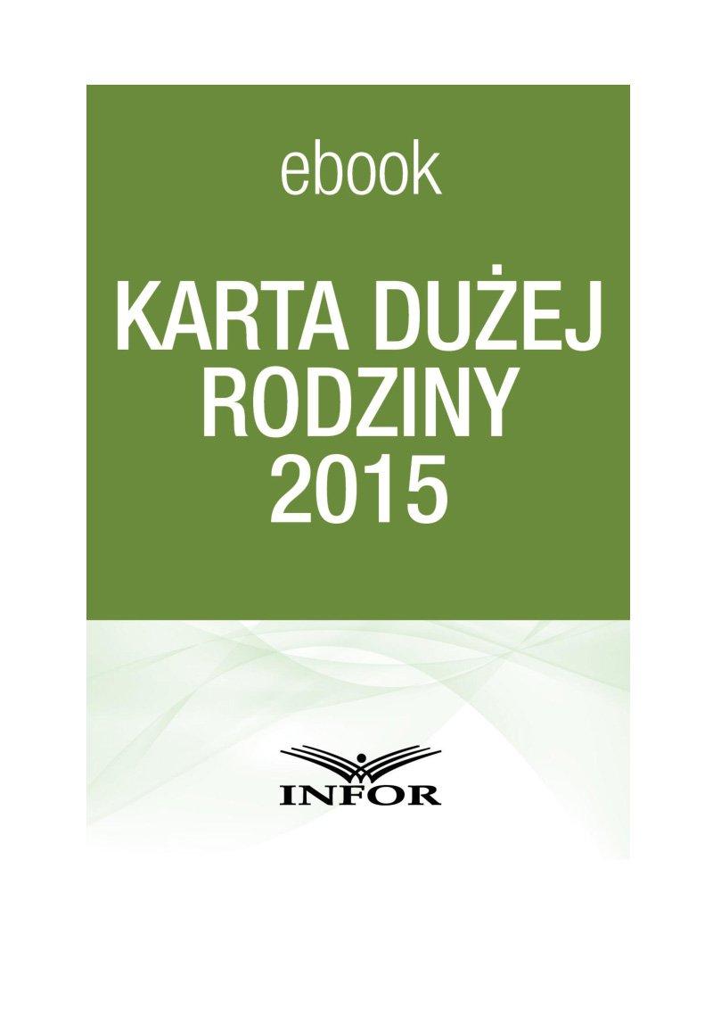 Karta dużej rodziny - Ebook (Książka PDF) do pobrania w formacie PDF