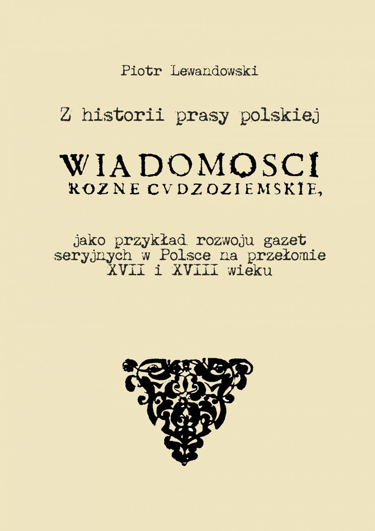 Z historii prasy polskiej - Ebook (Książka PDF) do pobrania w formacie PDF