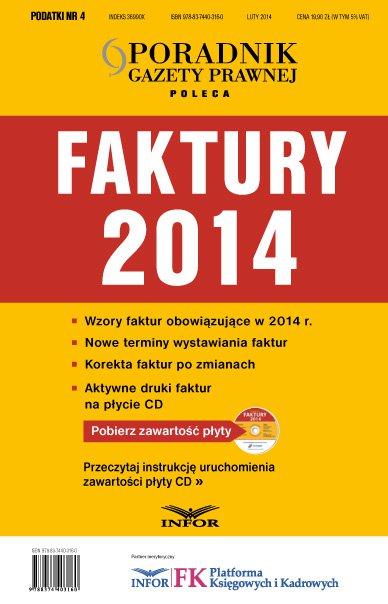 Podatki 4/14 -Faktury 2014 - Ebook (Książka PDF) do pobrania w formacie PDF