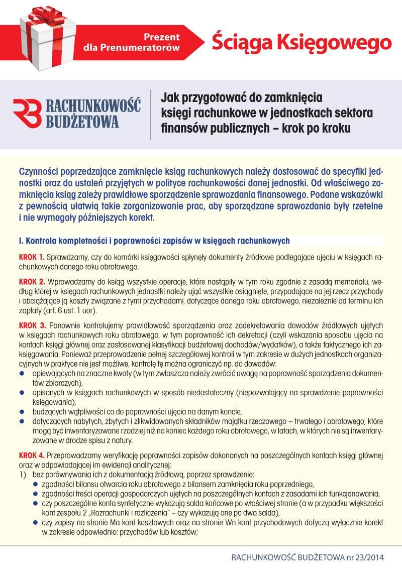 Ściąga Księgowego. Jak przygotować do zamknięcia księgi rachunkowe w jednostkach sektora finansów publicznych - Ebook (Książka PDF) do pobrania w formacie PDF