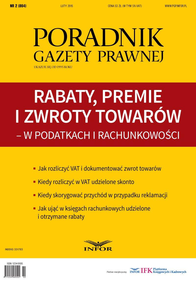Rabaty, premie i zwroty towarów - w podatkach i rachunkowości - Ebook (Książka PDF) do pobrania w formacie PDF