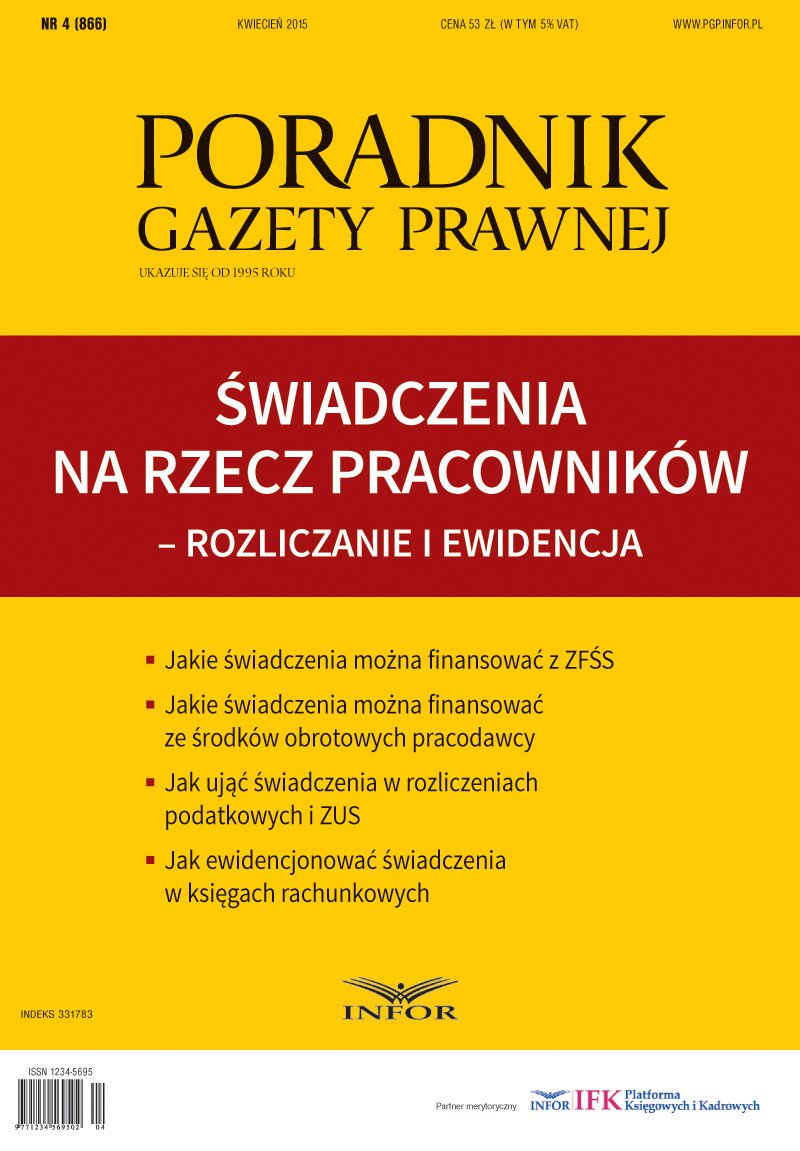 Świadczenia na rzecz pracowników – rozliczanie i ewidencja - Ebook (Książka PDF) do pobrania w formacie PDF