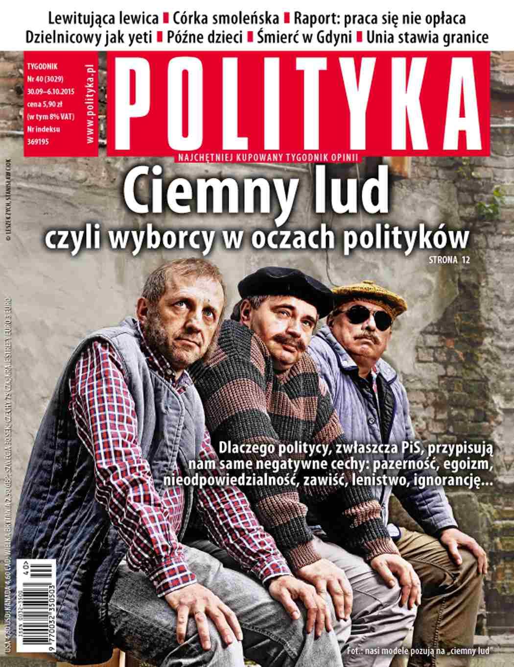 Polityka nr 40/2015 - Ebook (Książka PDF) do pobrania w formacie PDF
