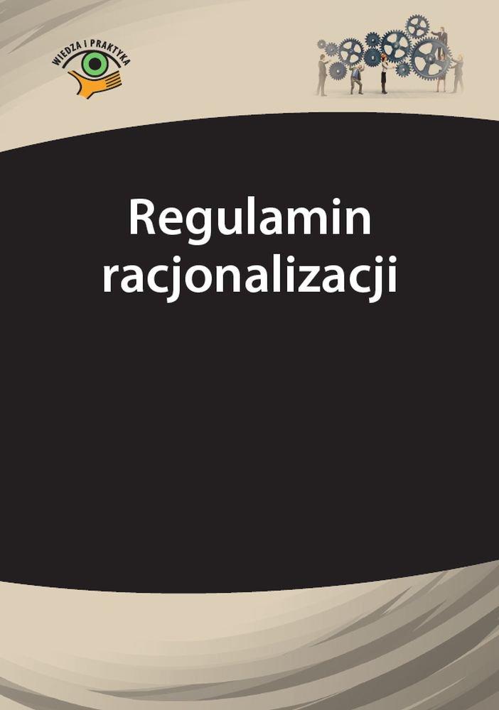 Regulamin racjonalizacji - Ebook (Książka PDF) do pobrania w formacie PDF