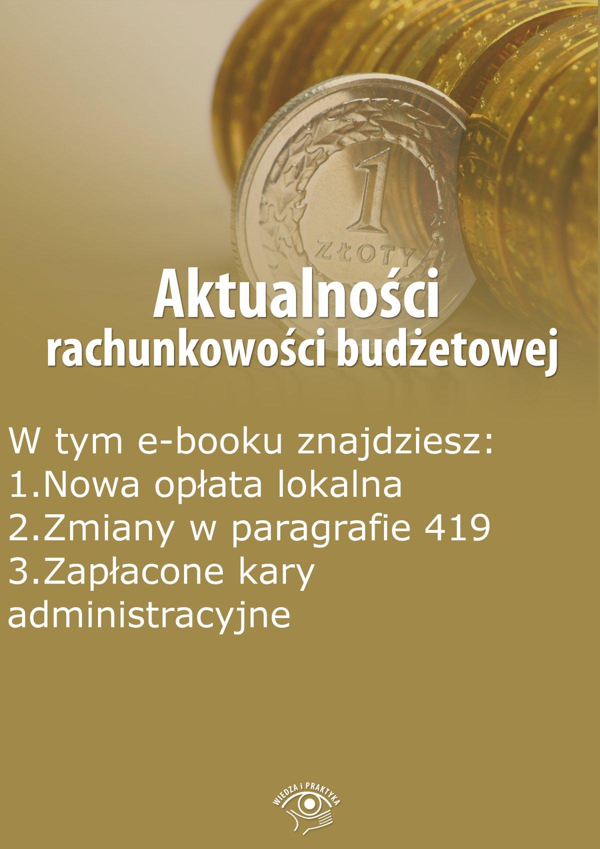 Aktualności rachunkowości budżetowej, wydanie wrzesień 2015 r. - Ebook (Książka EPUB) do pobrania w formacie EPUB