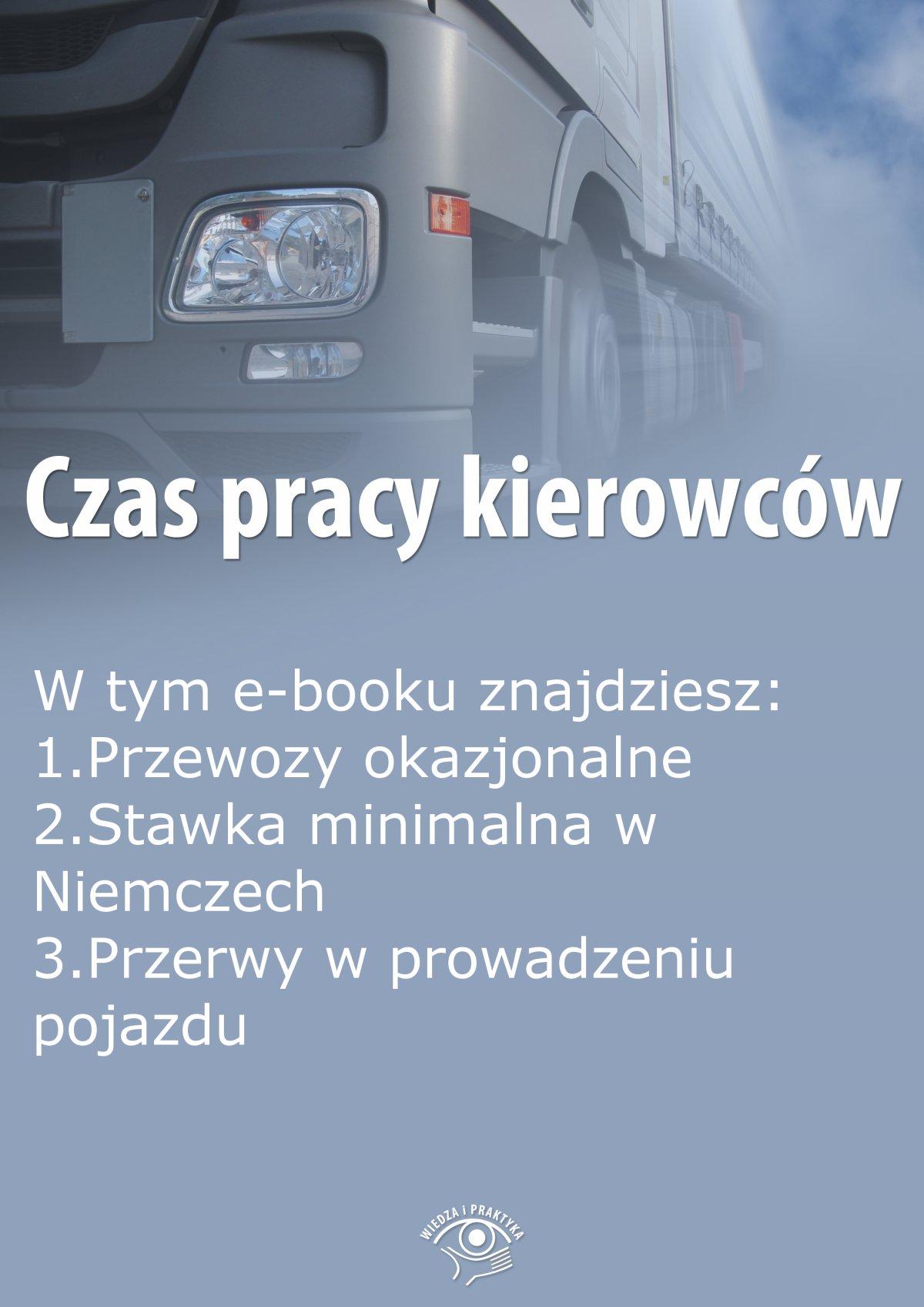 Czas pracy kierowców, wydanie lipiec 2015 r. - Ebook (Książka PDF) do pobrania w formacie PDF