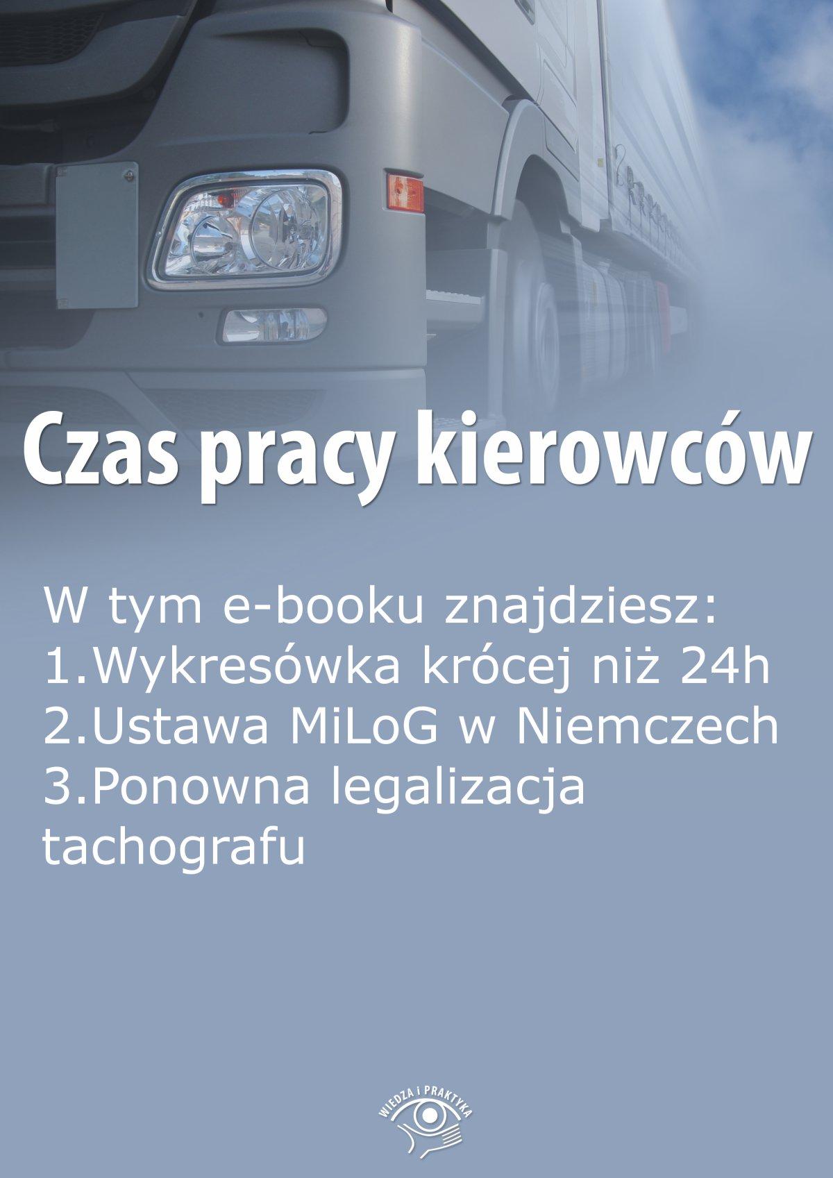 Czas pracy kierowców, wydanie sierpień 2015 r. - Ebook (Książka EPUB) do pobrania w formacie EPUB