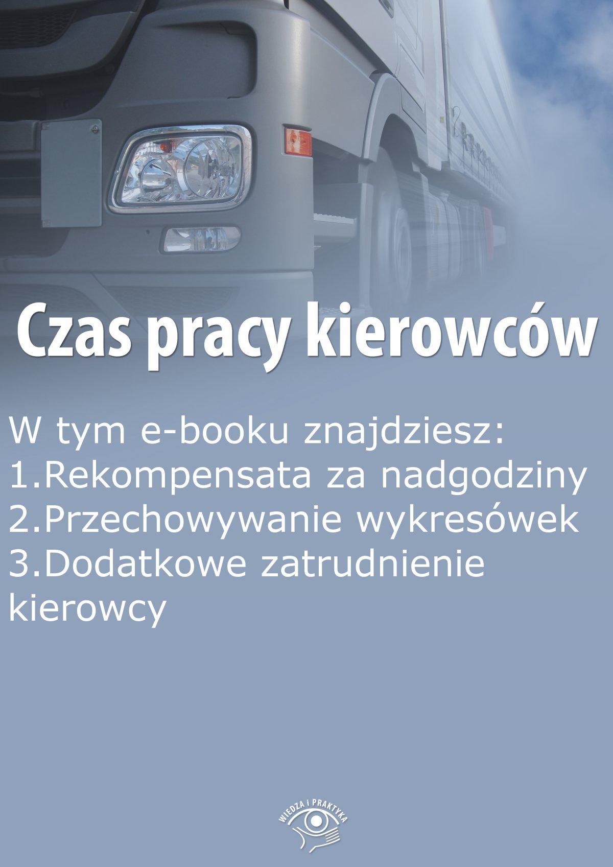 Czas pracy kierowców, wydanie wrzesień 2015 r. - Ebook (Książka EPUB) do pobrania w formacie EPUB