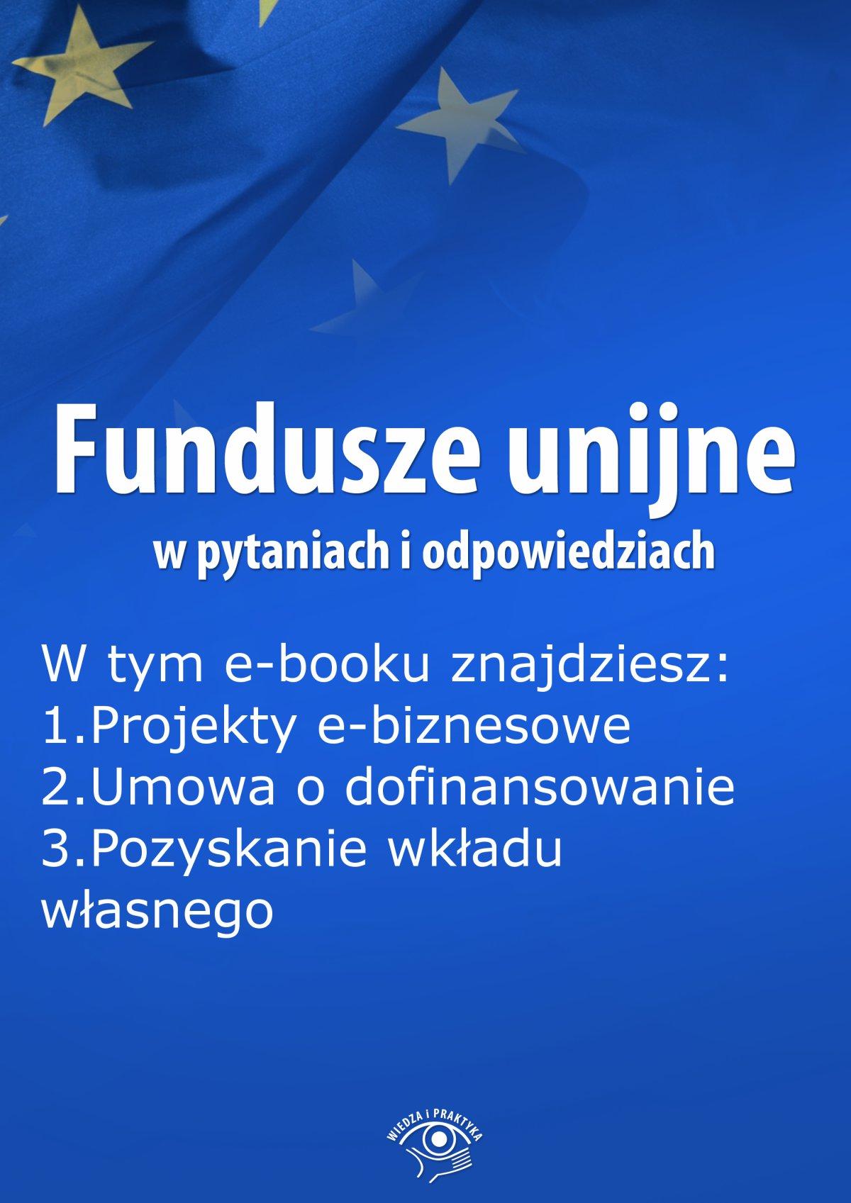 Fundusze unijne w pytaniach i odpowiedziach, wydanie lipiec 2015 r. - Ebook (Książka EPUB) do pobrania w formacie EPUB