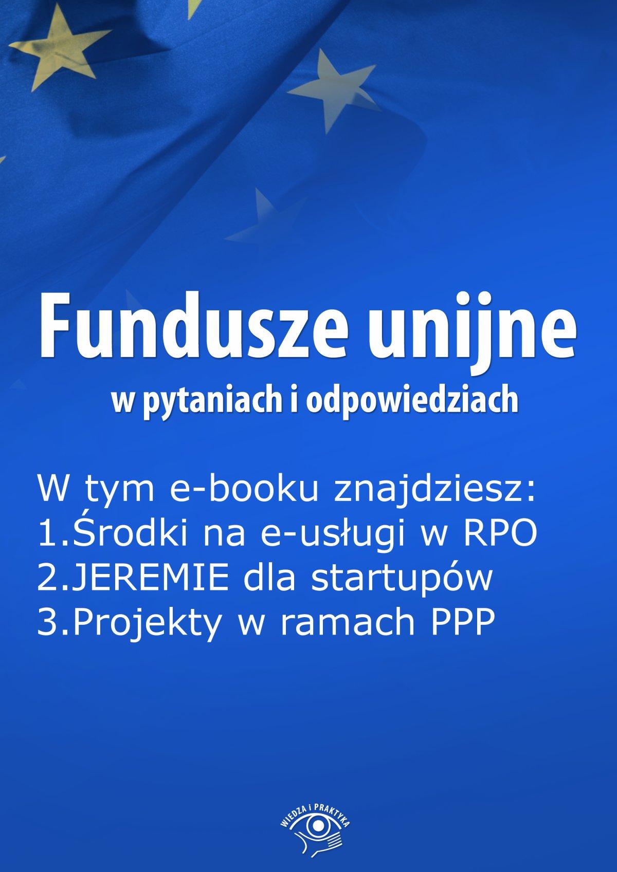 Fundusze unijne w pytaniach i odpowiedziach, wydanie październik 2015 r. - Ebook (Książka EPUB) do pobrania w formacie EPUB