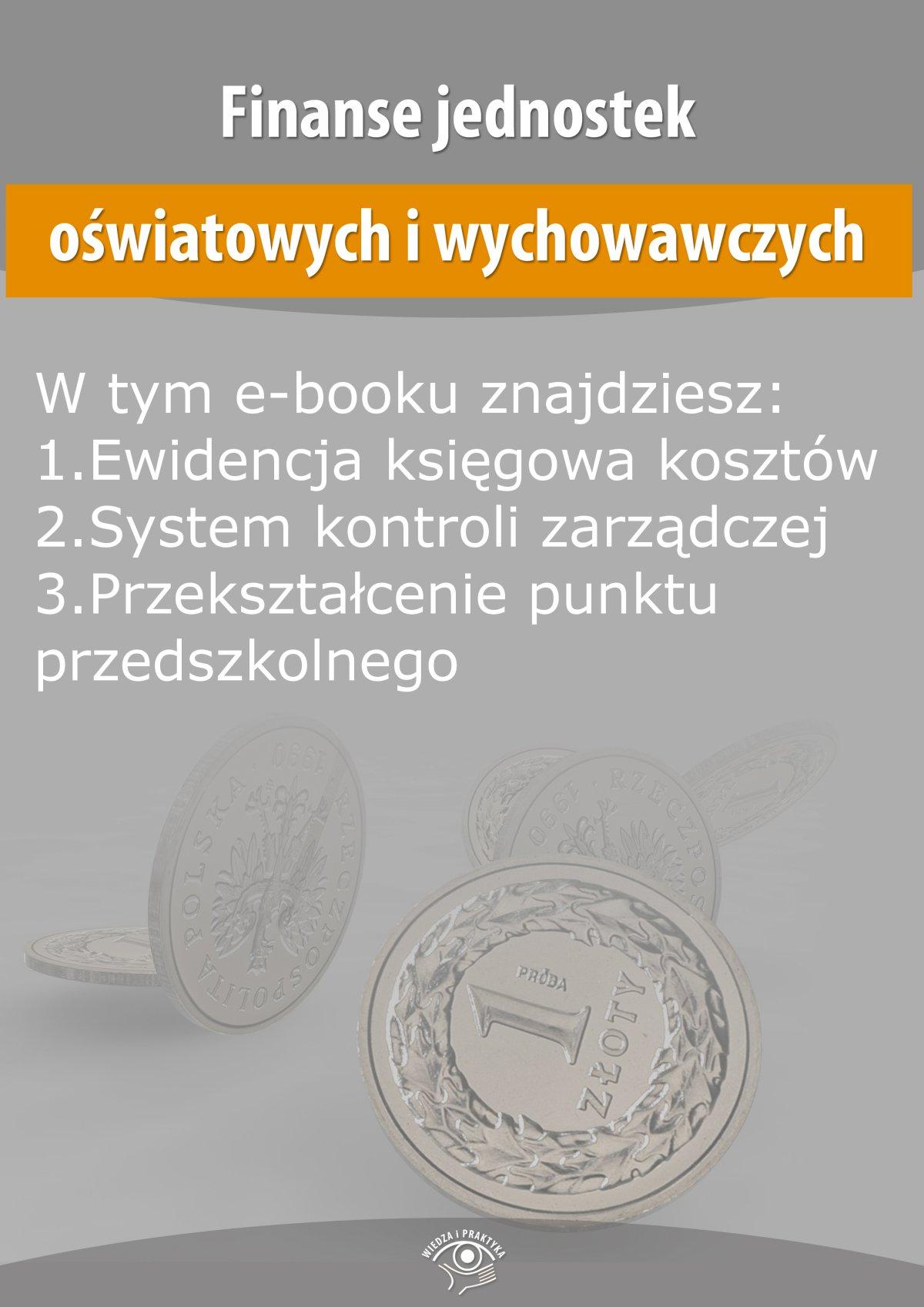 Finanse jednostek oświatowych i wychowawczych, wydanie lipiec-sierpień 2015 r. - Ebook (Książka EPUB) do pobrania w formacie EPUB