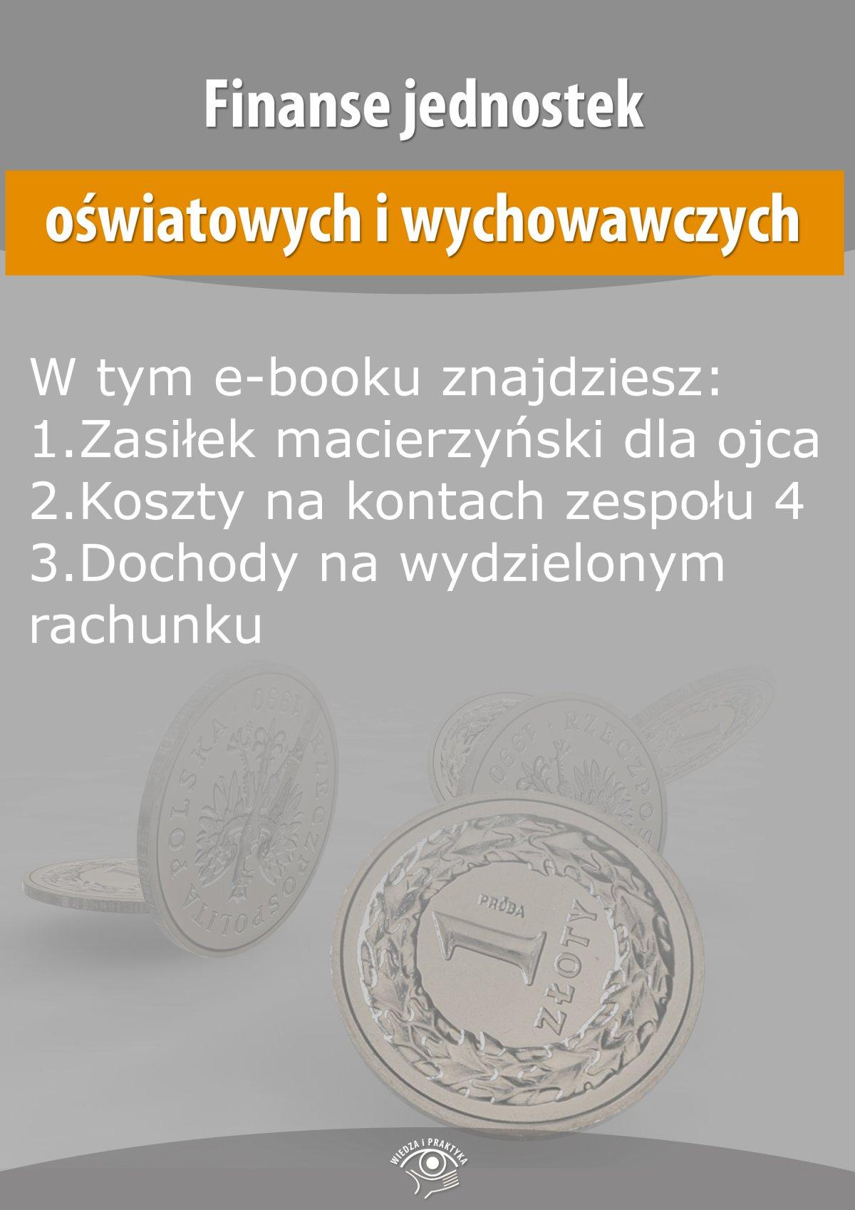 Finanse jednostek oświatowych i wychowawczych, wydanie październik 2015 r. - Ebook (Książka EPUB) do pobrania w formacie EPUB