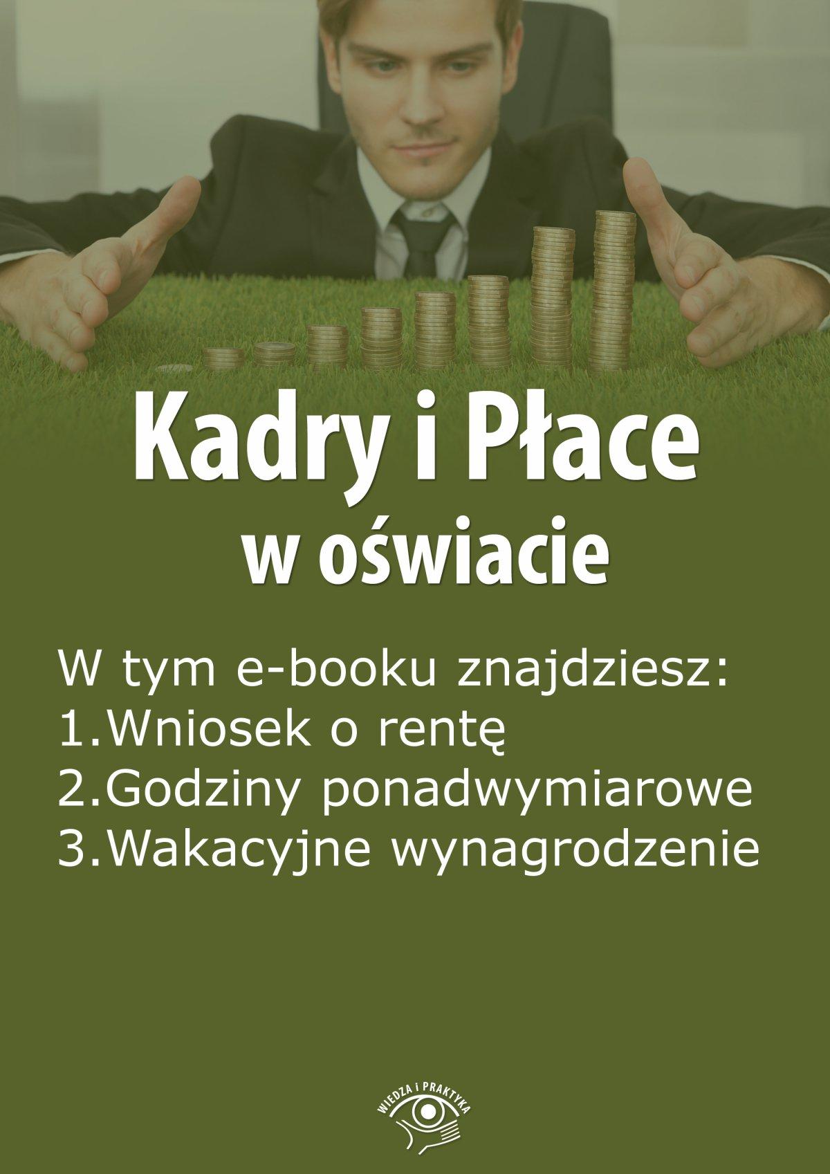 Kadry i Płace w oświacie, wydanie czerwiec 2015 r. - Ebook (Książka EPUB) do pobrania w formacie EPUB