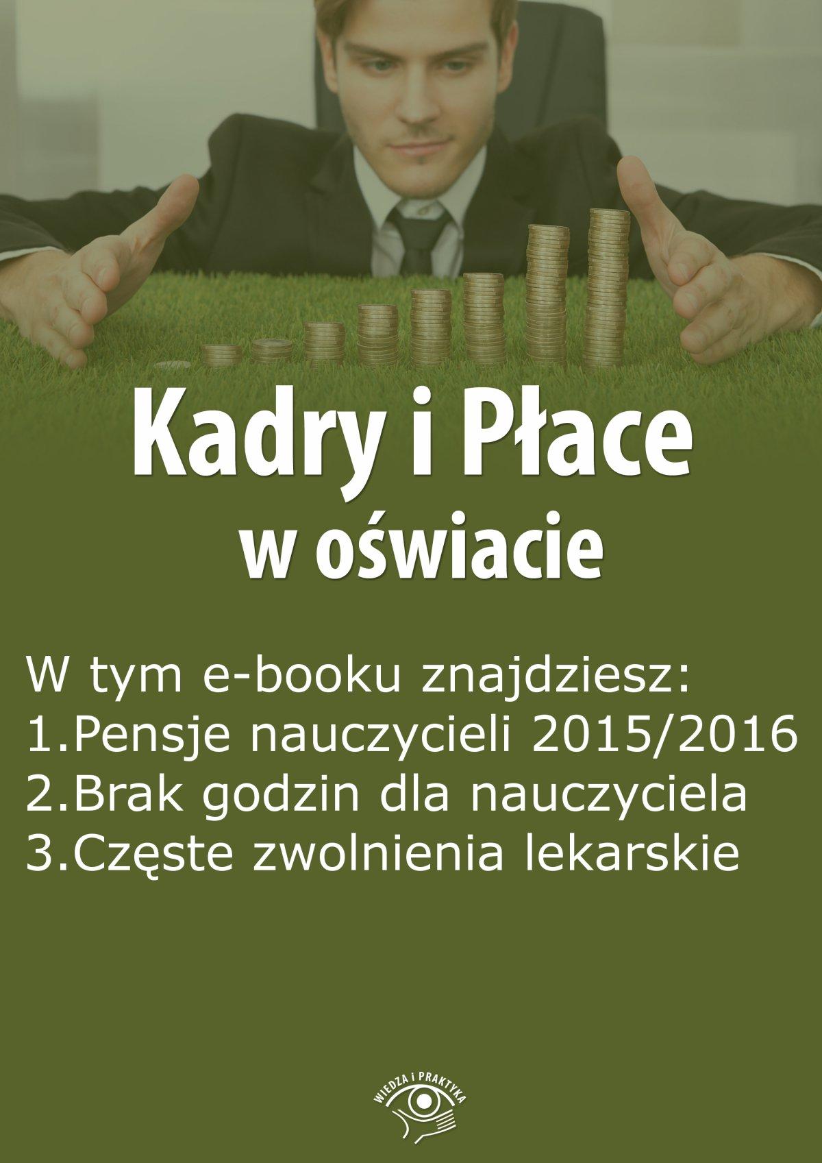 Kadry i Płace w oświacie, wydanie sierpień 2015 r. - Ebook (Książka EPUB) do pobrania w formacie EPUB