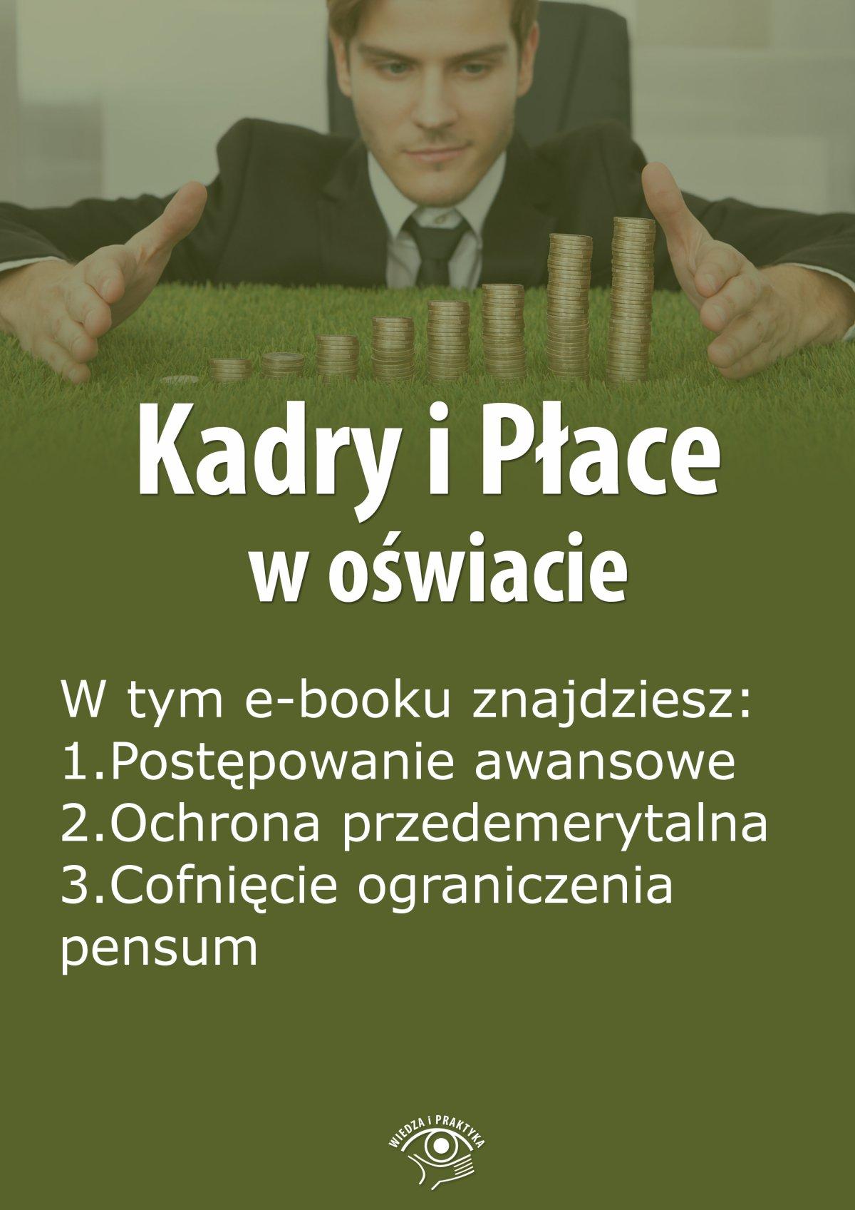 Kadry i Płace w oświacie, wydanie wrzesień 2015 r. - Ebook (Książka EPUB) do pobrania w formacie EPUB