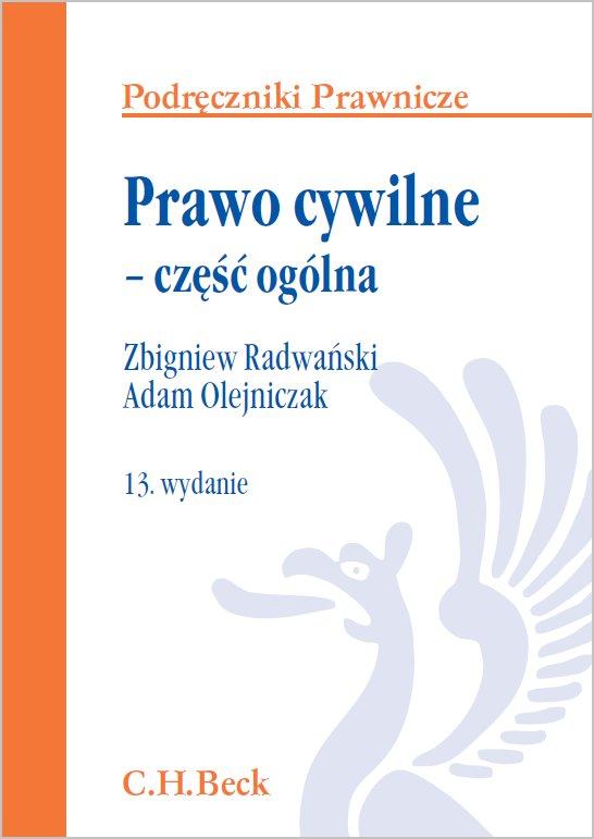 Prawo cywilne - część ogólna. Wydanie 13 - Ebook (Książka PDF) do pobrania w formacie PDF