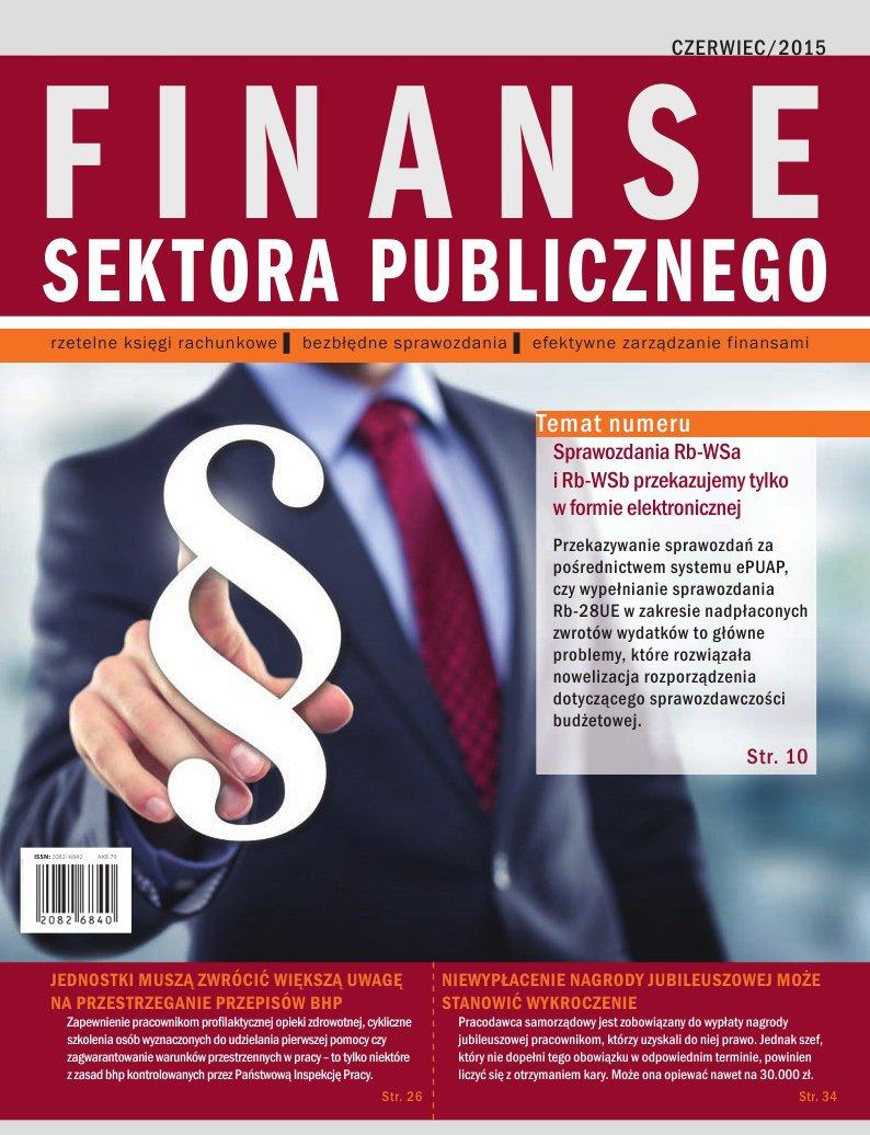 Finanse sektora publicznego, wydanie czerwiec 2015 r. - Ebook (Książka EPUB) do pobrania w formacie EPUB