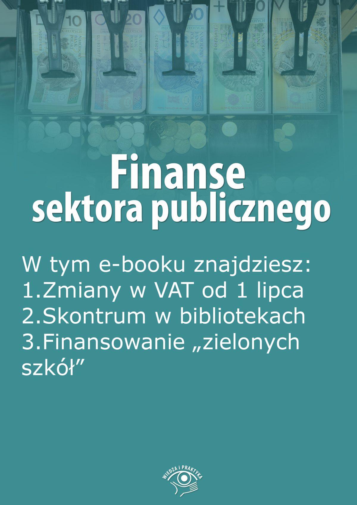 Finanse sektora publicznego, wydanie lipiec 2015 r. - Ebook (Książka EPUB) do pobrania w formacie EPUB