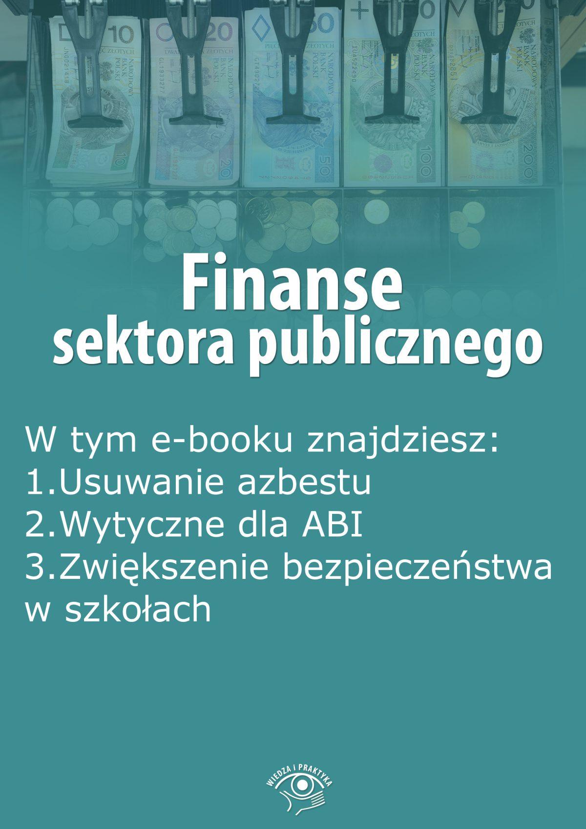 Finanse sektora publicznego, wydanie sierpień 2015 r. - Ebook (Książka EPUB) do pobrania w formacie EPUB