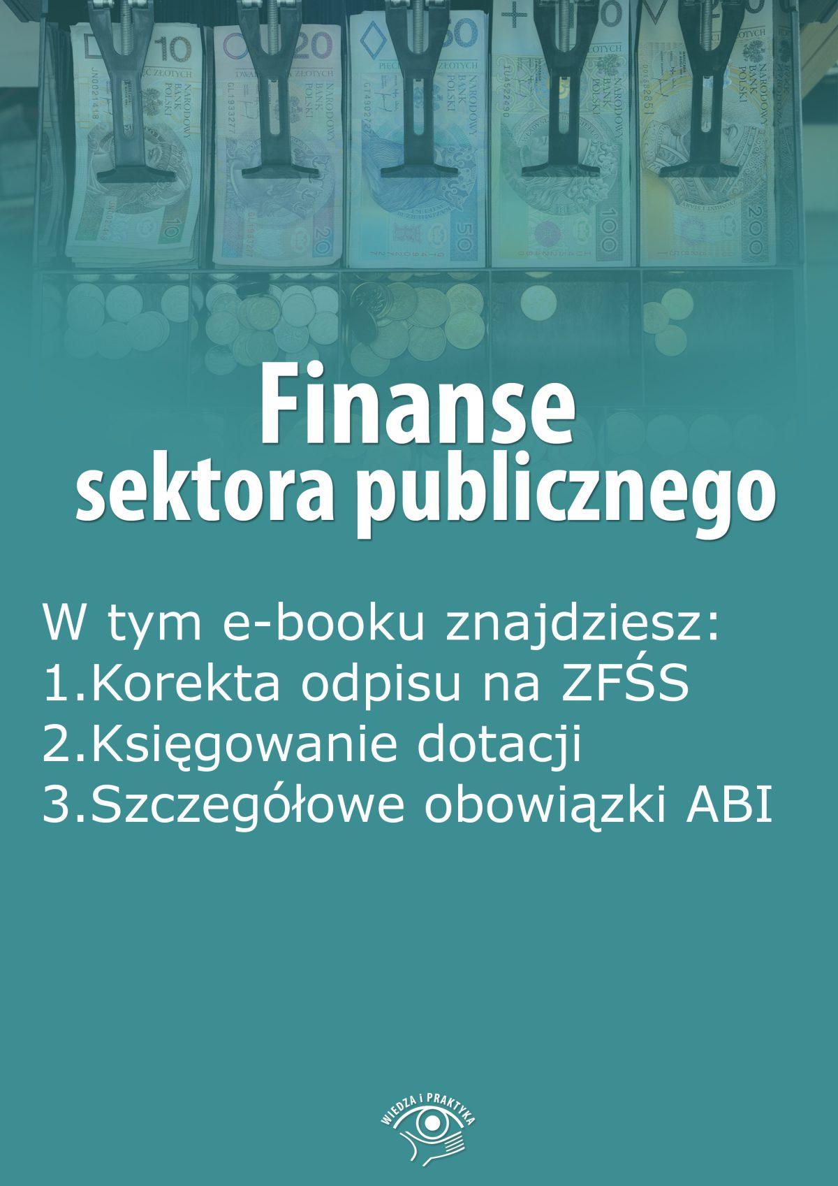 Finanse sektora publicznego, wydanie październik 2015 r. - Ebook (Książka EPUB) do pobrania w formacie EPUB