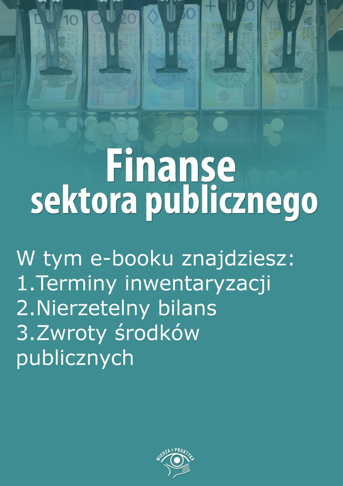 Finanse sektora publicznego, wydanie listopad 2015 r. - Ebook (Książka EPUB) do pobrania w formacie EPUB