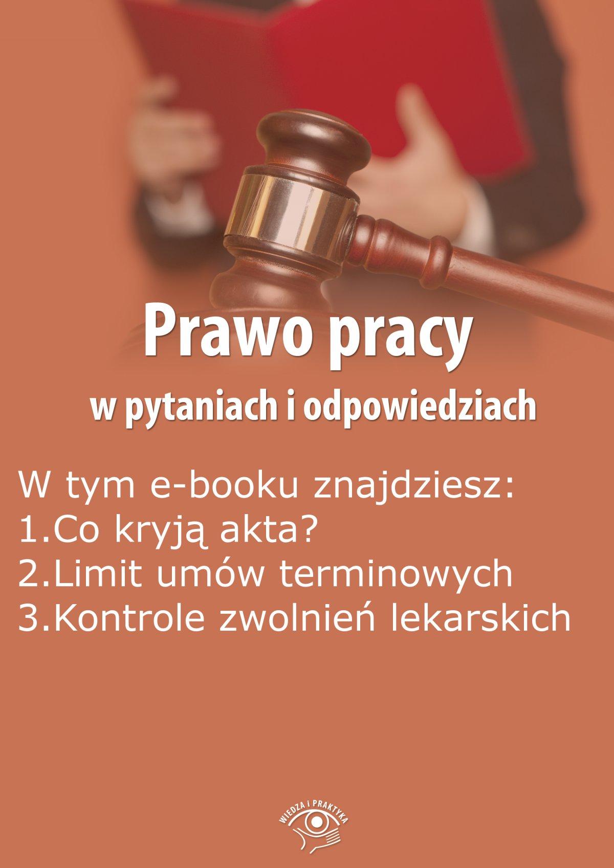 Prawo pracy w pytaniach i odpowiedziach, wydanie wrzesień-październik 2015 r. - Ebook (Książka EPUB) do pobrania w formacie EPUB