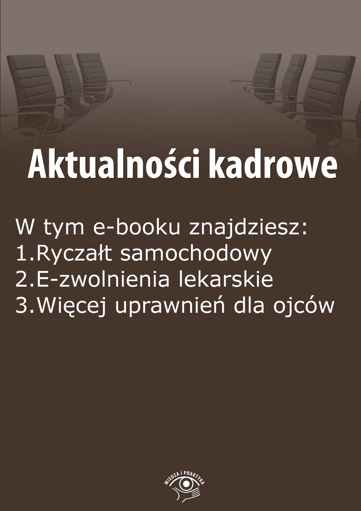 Aktualności kadrowe, wydanie sierpień 2015 r. - Ebook (Książka EPUB) do pobrania w formacie EPUB