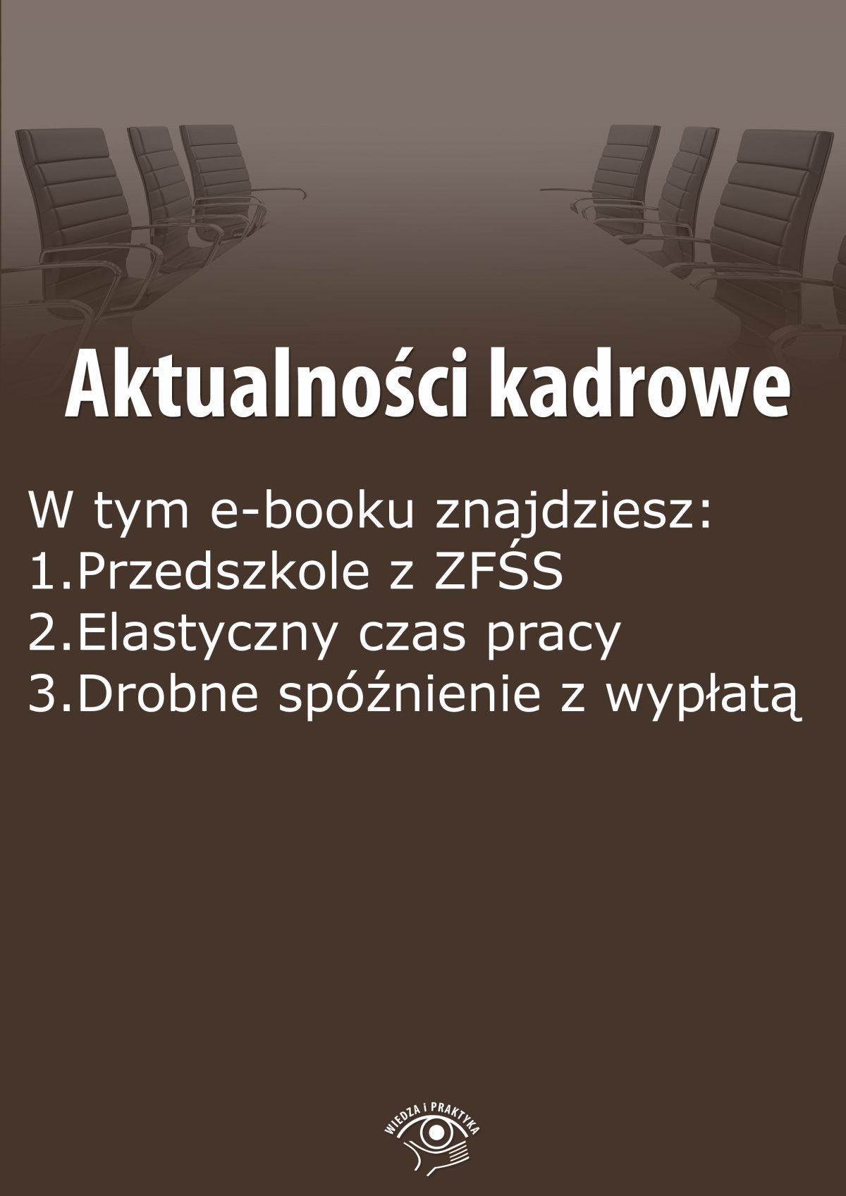 Aktualności kadrowe, wydanie wrzesień 2015 r. - Ebook (Książka EPUB) do pobrania w formacie EPUB