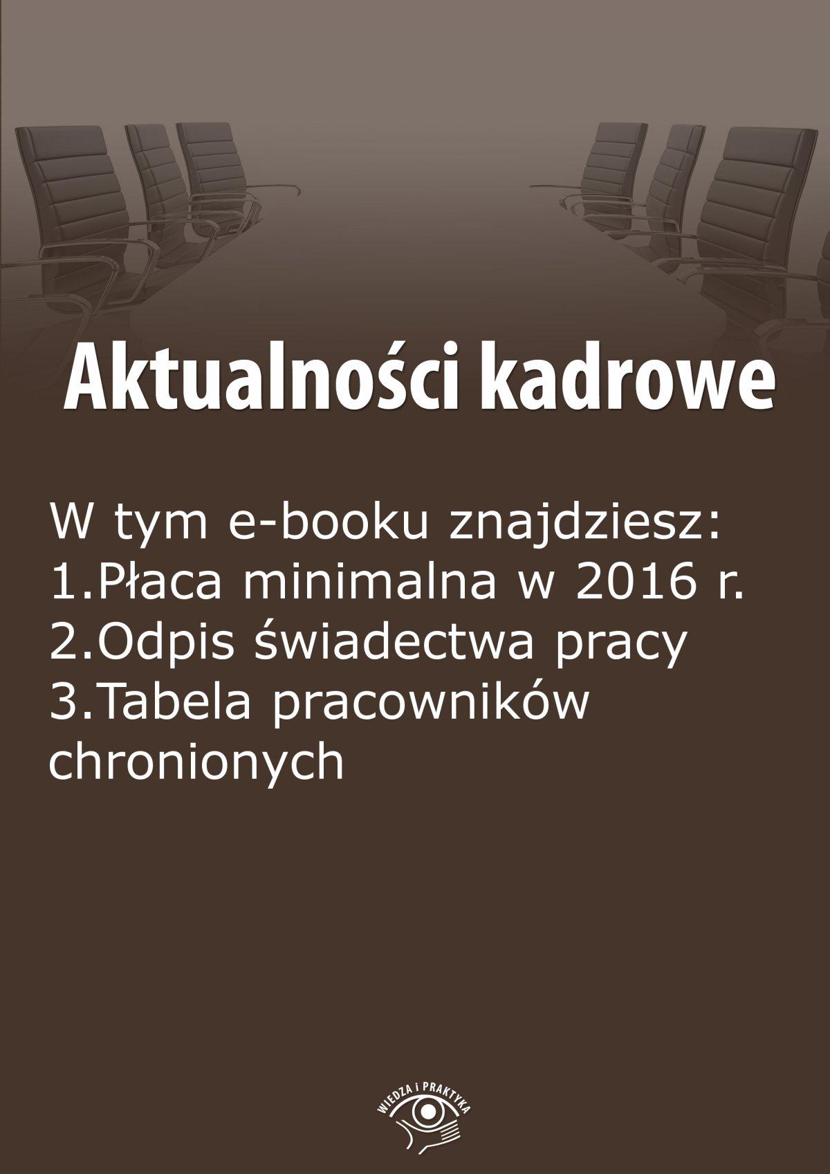 Aktualności kadrowe, wydanie październik 2015 r. - Ebook (Książka na Kindle) do pobrania w formacie MOBI