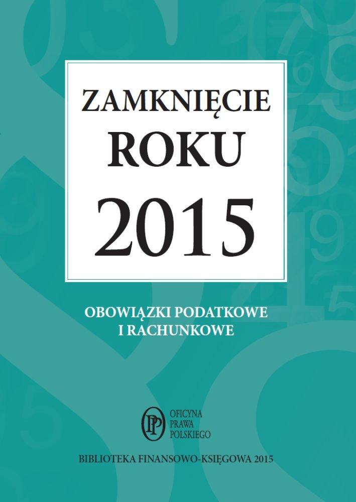 Zamknięcie roku 2015 - Ebook (Książka PDF) do pobrania w formacie PDF