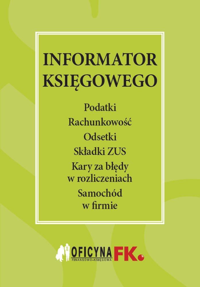 Informator księgowego - Ebook (Książka PDF) do pobrania w formacie PDF