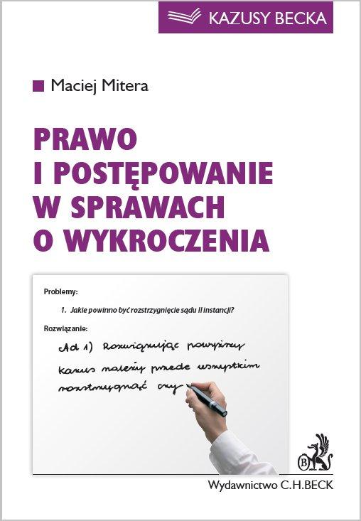 Prawo i postępowania w sprawach o wykroczenia - Ebook (Książka PDF) do pobrania w formacie PDF